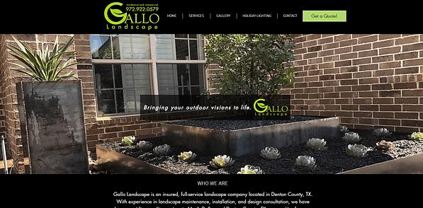 Gallo Landscape Website Screenshot