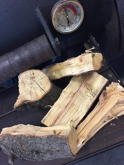 plum split logs plum smoking wood plum wood