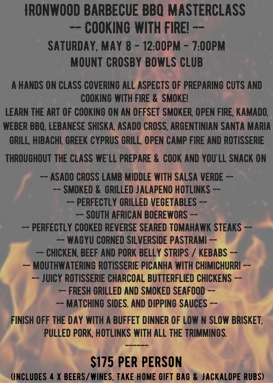 Cooking With Fire! BBQ Masterclass - 8 May 2021