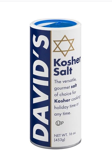David's Kosher Salt - 453g and 1.12kg