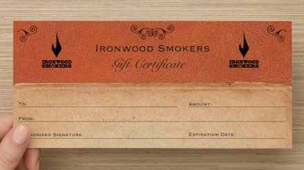 Ironwood Smokers Gift Certificate