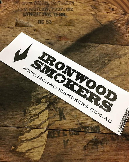 Ironwood Smokers Car Sticker