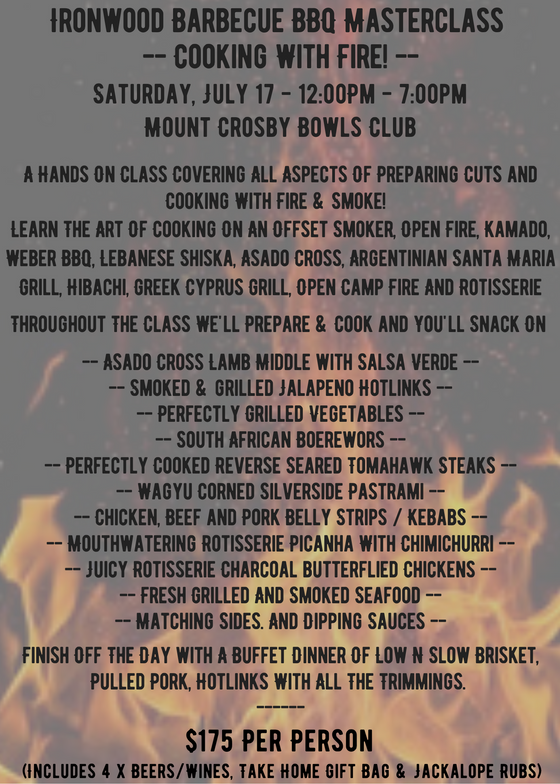 Copy of Cooking With Fire! BBQ Masterclass - 17 July 2021