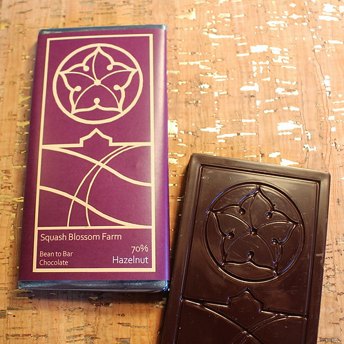 70% Dark Chocolate w/Hazelnuts