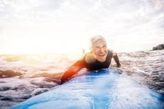 Surfing retiree