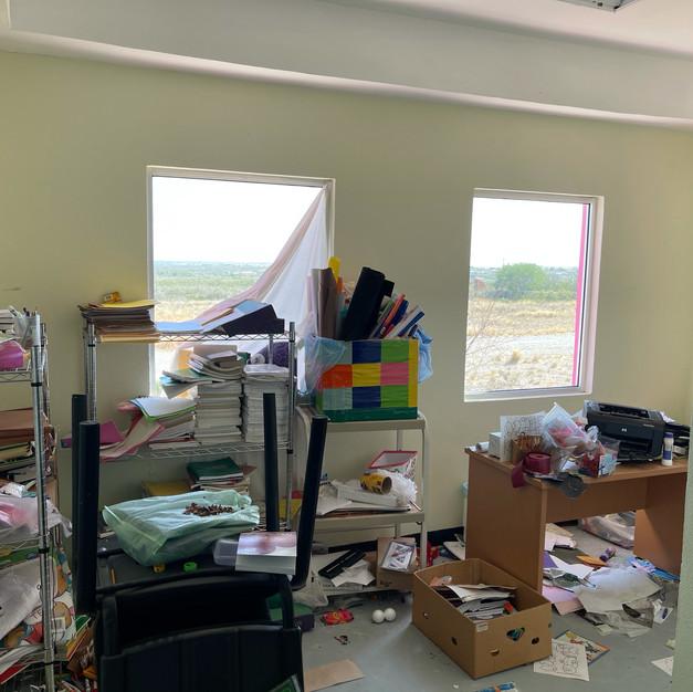 Main office - badly vandalized