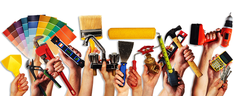 Various hands with tools clipart.png