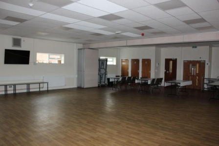 Hall hire - 2 hour event plus clean time