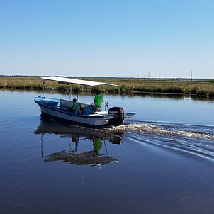 boat in the bayou