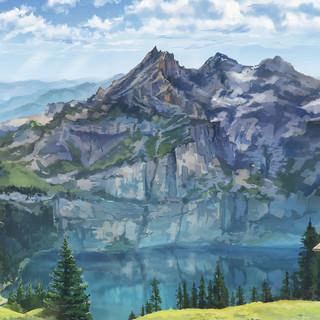 アルプスの湖