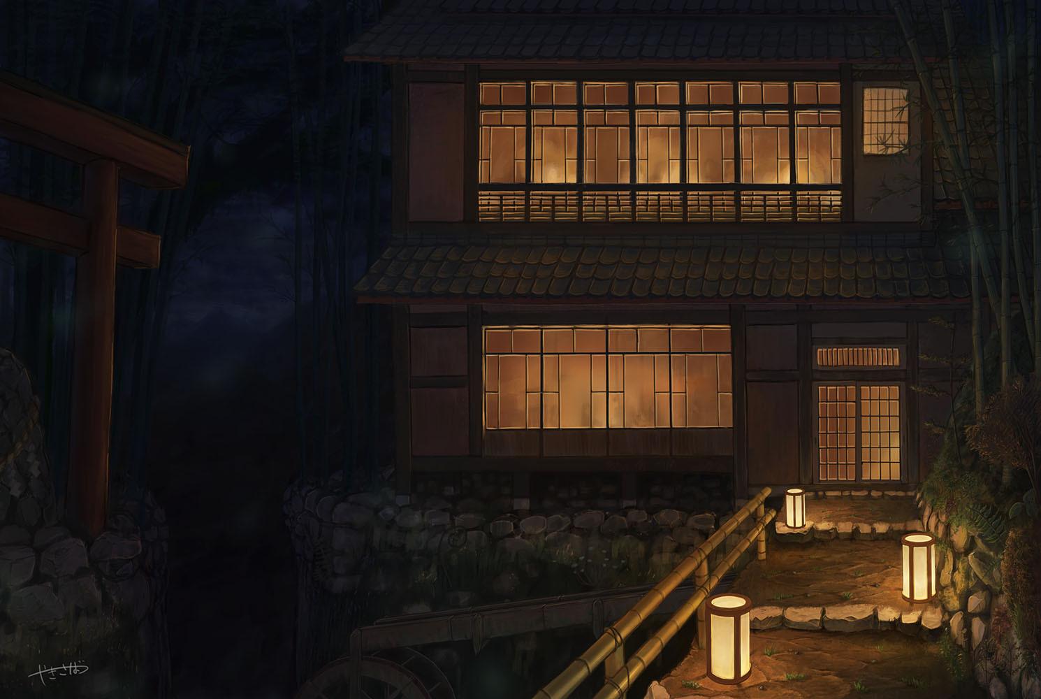 山奥の家屋