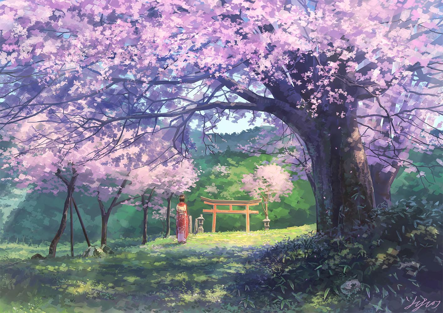 桜の向こう