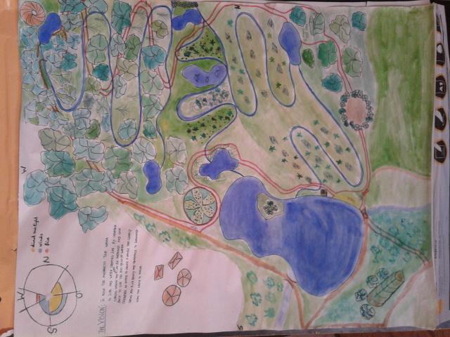 Water retention landscaping plan