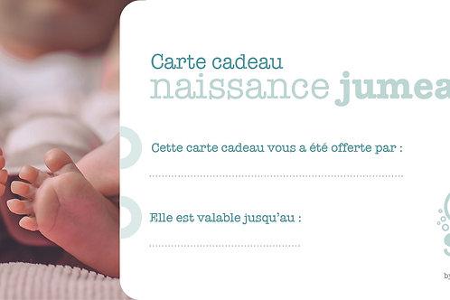 """Carte cadeau """"Naissance"""" Jumeaux"""