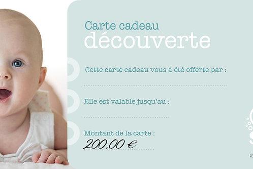 """Carte cadeau """"Découverte"""" - 200 €"""