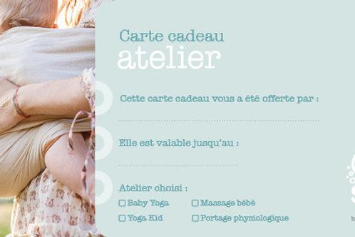 """Carte cadeau """"Atelier"""" - 45 €"""