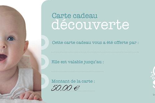 """Carte cadeau """"Découverte"""" - 50€"""