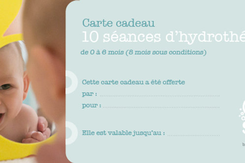 """Carte cadeau """"10 séances d'hydrothérapie"""""""