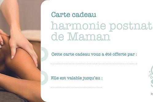 """Carte cadeau """"Harmonie postnatale de Maman"""""""