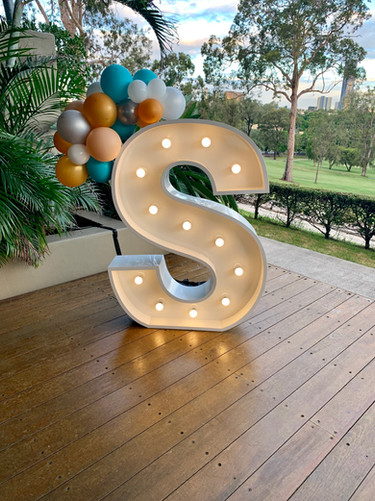 Light up 'S' for a birthday par