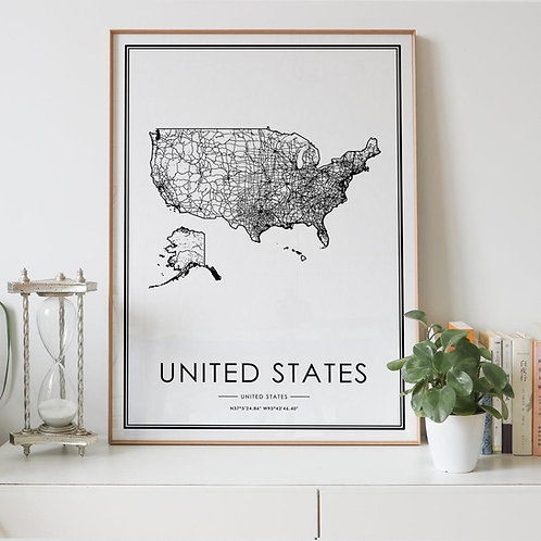 United States Country Map