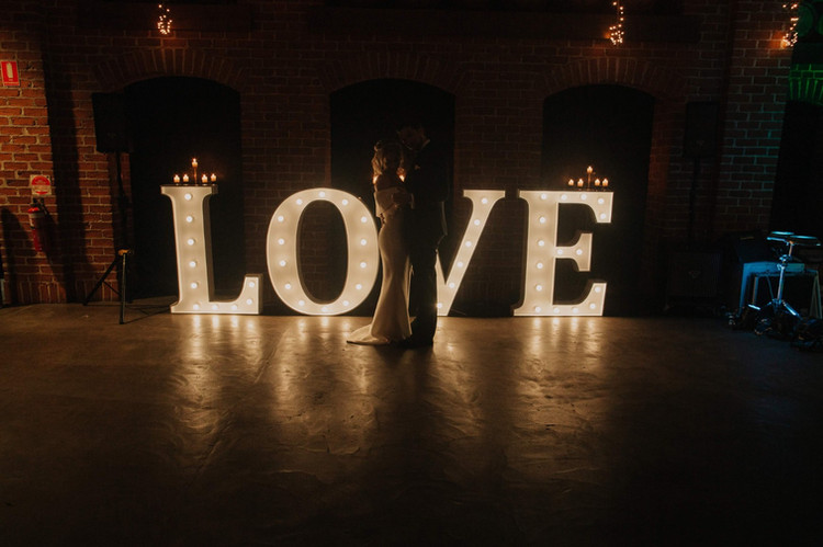 Light up 'LOVE' in Times Font at Sirromet Winery