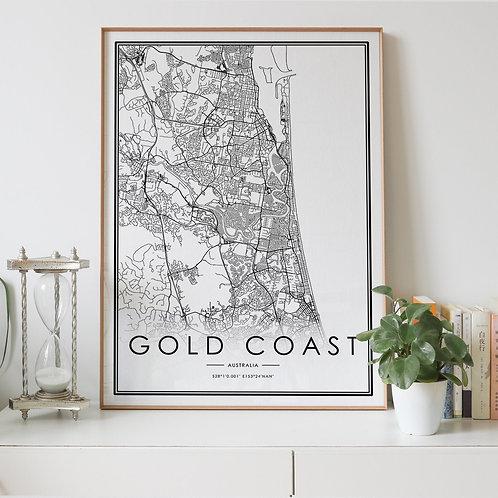 Gold Coast City Map