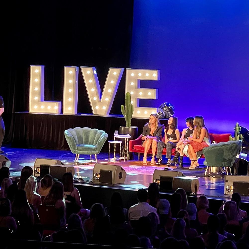 LIVE big light letters on stage