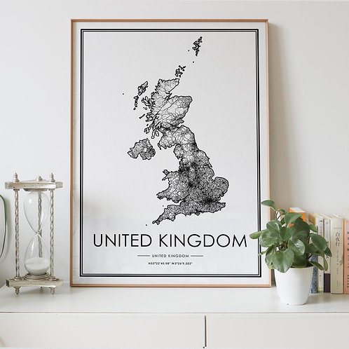 United Kingdom Country Map