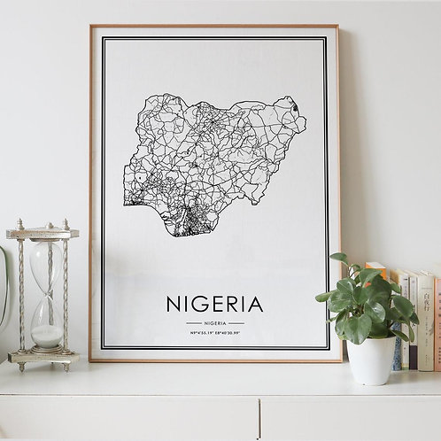Nigeria Country Map