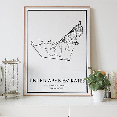 United Arab Emirates Country Map