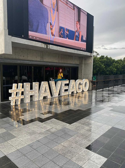 Event or company hashtag - Light up letters