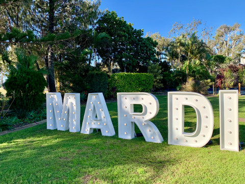 Mardi always dreamed of having her name up in lights