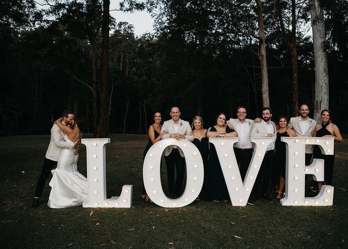 Light up 'LOVE' in Times Font