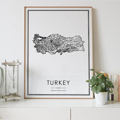 Turkey Country Map