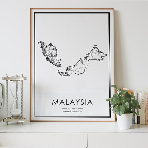 Malaysia Country Map
