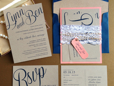 Country Chic Wedding Invites