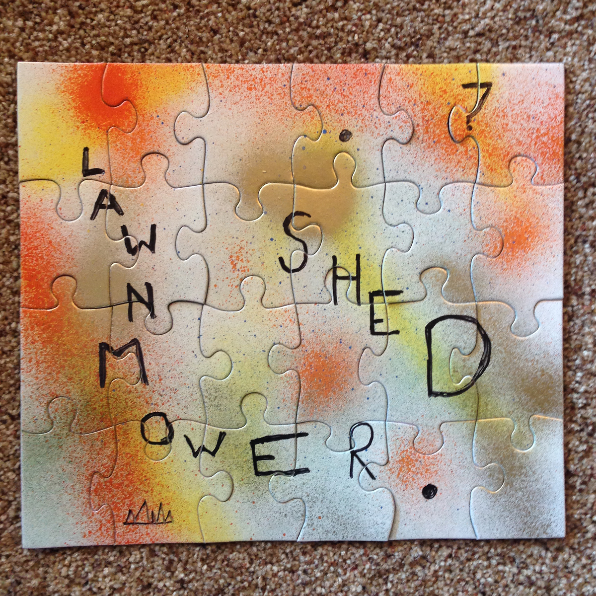 Lawn Mower Shed Puzzle