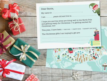 Printable Kids Letter to Santa