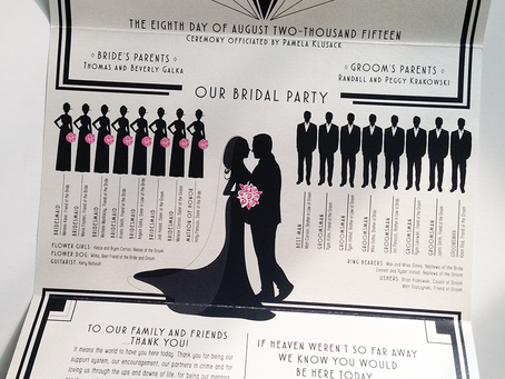 Art Deco Wedding Program
