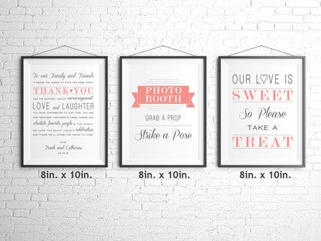 Wedding Sign Package!