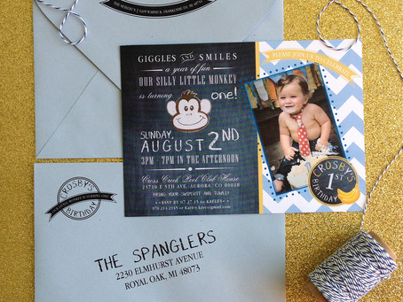 First Birthday - Monkey Bash Invitation