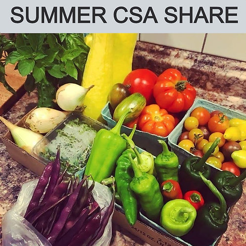 Summer CSA Share - 10 weeks starting in July through early September.