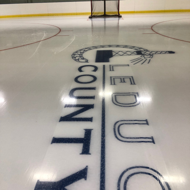 Easy sheet in use at Leduc Hockey Rink