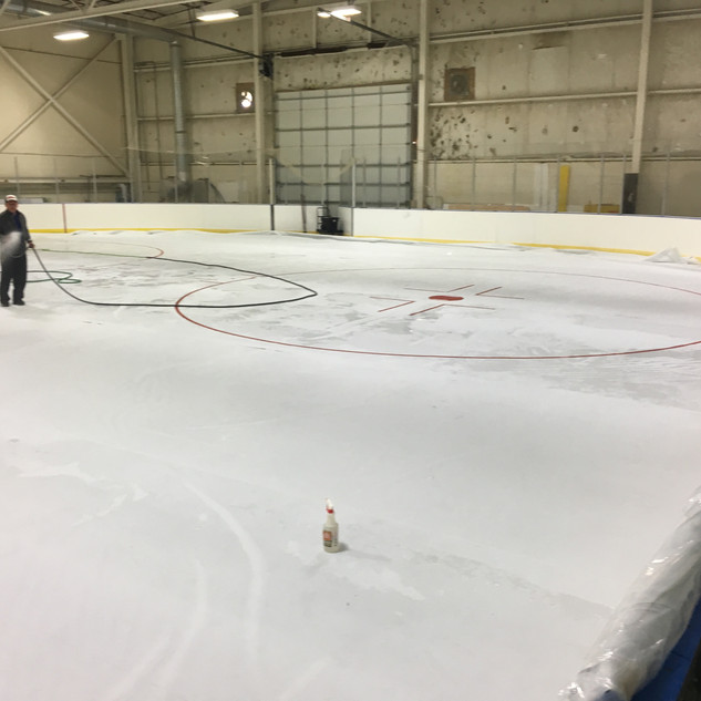 ice flooding after Easy Sheet