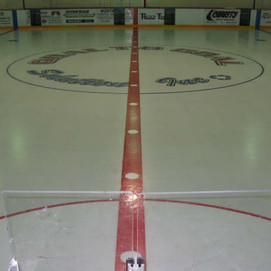 Easy sheet with branding at hockey rink