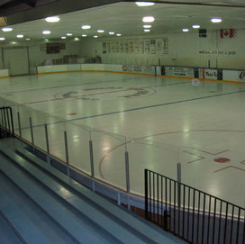 Easy sheet at the hockey rink