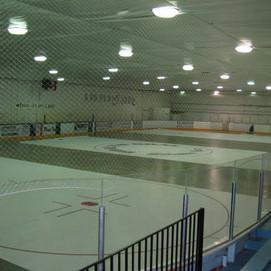 Easy sheet at the hockey rink.