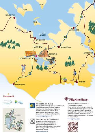 Gavlskilt om Pilgrimsvandring