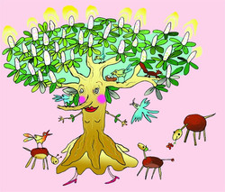 Illustration fra børnecd'en: Ønskeeg